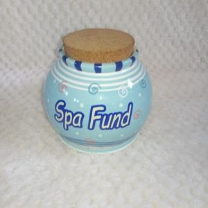Bella Casa by Ganz Spa Fund Cork Jar Bank Novelty